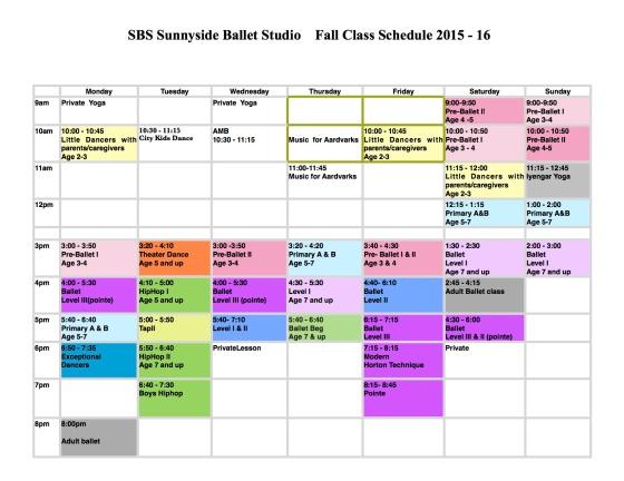 2015-16 schedule